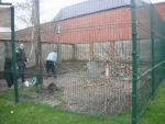 The Holy Family School Garden under construction